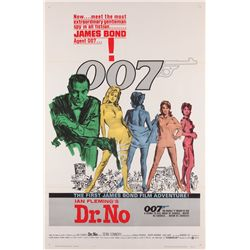 Dr. No folded Near-Mint original U.S. one-sheet poster