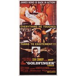 Goldfinger folded Near-Mint original U.S. three-sheet poster