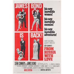 From Russia With Love folded Near-Mint original U.S. one-sheet poster