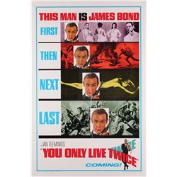 """You Only Live Twice folded Near-Mint original U.S. """"Teaser"""" one-sheet poster style 'A'"""