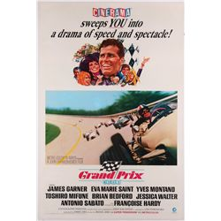 Grand Prix original U.S. one-sheet 'Cinerama style' poster on linen
