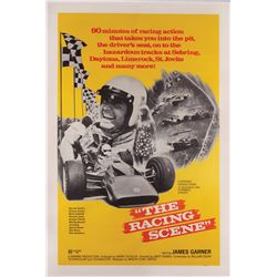 The Racing Scene original U.S. one-sheet poster on linen