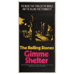 Gimme Shelter original U.S. three-sheet poster on linen