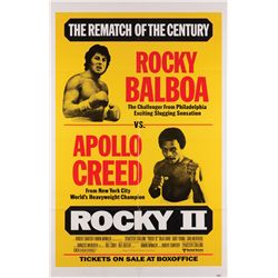 "Rocky II original U.S. one-sheet poster, special ""fight-card"" style"