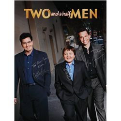 Two and a Half Men signed poster