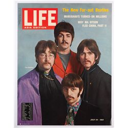 Life magazine newsstand poster of The Beatles 1967