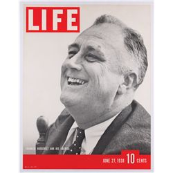 Life magazine newsstand posters (2) of Robert Kennedy (1967) and Franklin D. Roosevelt (1938)