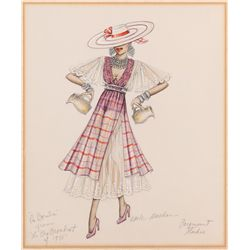 "Adele Balkin costume sketch for a dancer from the ""La Bamba"" sequence from The Big Broadcast"