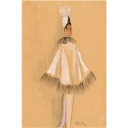 Costume design sketch for Josephine Baker stage costume