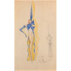 Charles Le Maire costume sketch of a showgirl from George White's Scandals
