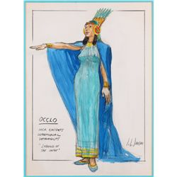 John L. Jensen Inca Empress costume sketch from Secret of the Incas