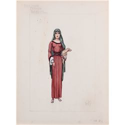 "Valles costume design for Haya Harareet as ""Esther"" from Ben-Hur"
