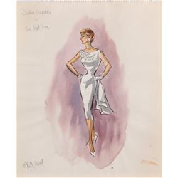 Edith Head costume sketch for Debbie Reynolds in The Rat Race