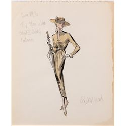 Edith Head costume design sketch for Vera Miles from The Man Who Shot Liberty Valance