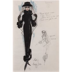 John Furness costume sketch for Ursula Andress in The Blue Max