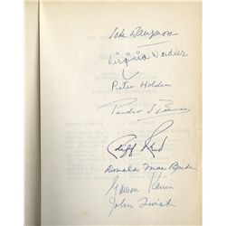 John Barrymore and cast signed script for The Great Man Votes