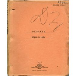 Desirée script with Darryl F. Zanuck's handwritten notations