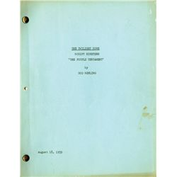 Pair of Rod Serling scripts: Twilight Zone and The Doomsday Flight