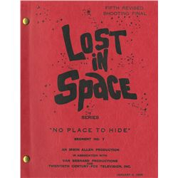 Original unaired Lost in Space pilot script No Place to Hide signed by Bill Mumy & Angela Cartwright