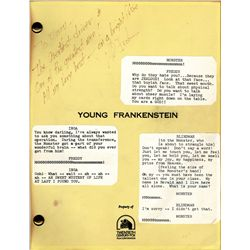 Young Frankenstein script signed by Mel Brooks