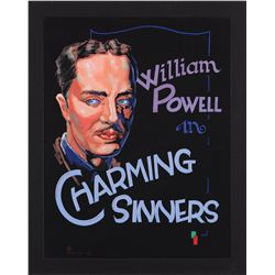 Original theater artwork of William Powell from Charming Sinners