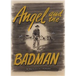 Angel and the Badman original chalk-pastel poster-art concept sketch