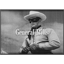 "The Lone Ranger ""General Mills"" title camera art"