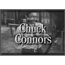 The Rifleman camera title art for Chuck Connors and Johnny Crawford