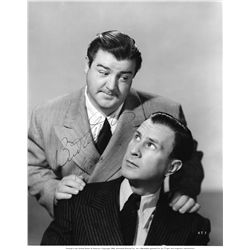 Oversize portrait of Bud Abbott and Lou Costello signed by both