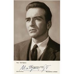 Montgomery Clift portrait signed