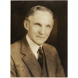 Henry Ford portrait signed