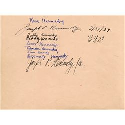 Bold signatures of the Kennedy family