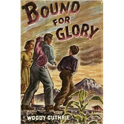 Bound for Glory First Edition inscribed and signed by Woody Guthrie