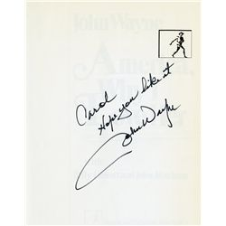America, Why I Love Her signed by John Wayne