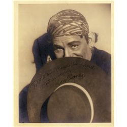 Lon Chaney, Sr. portrait signed and inscribed to William Randolph Hearst
