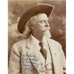 "William F. ""Buffalo Bill"" Cody portrait signed"