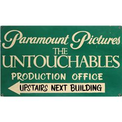 Paramount exterior stage sign from the TV series The Untouchables