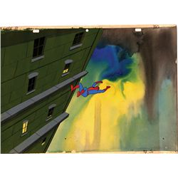 Original production cels, original hand-painted background and scripts from Spider-Man
