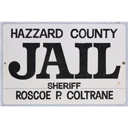 Hazzard County Jail sign from The Dukes of Hazzard