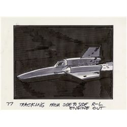 Archive of 150+ storyboard art and conceptual sketches from Battlestar Galactica pilot