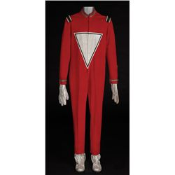 """Robin Williams """"Mork from Ork"""" signature space-suit costume designed by Robert Fuca for Mork & Mindy"""