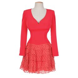 Dolly Parton red dress worn in a TV appearance