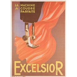 Excelsior sewing machine print from Rachel's room in Friends