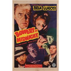Bowery at Midnight original folded U.S. one-sheet poster from the Bela Lugosi family collection