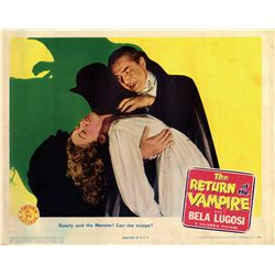 The Return of the Vampire original U.S. portrait lobby-card from the Bela Lugosi family collection