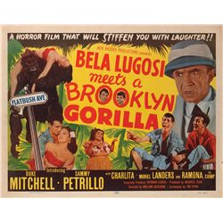Bela Lugosi Meets a Brooklyn Gorilla half-sheet poster from the Bela Lugosi family collection