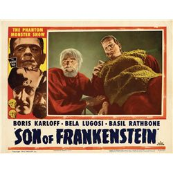 Son of Frankenstein 1953 reissue portrait lobby-card from the Bela Lugosi family collection