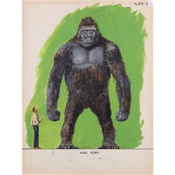 Willis O'Brien concept art of Kong for King Kong vs. Frankenstein