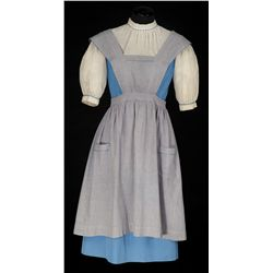 "Judy Garland ""Dorothy Gale"" solid blue cotton test dress by Adrian from The Wizard of Oz"