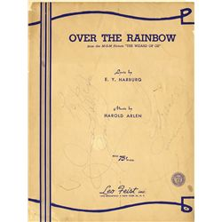 "Judy Garland/ Frances Gumm double-signed ""Over the Rainbow"" sheet music"